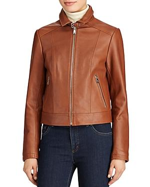 Lauren Ralph Lauren Zip-front Leather Jacket