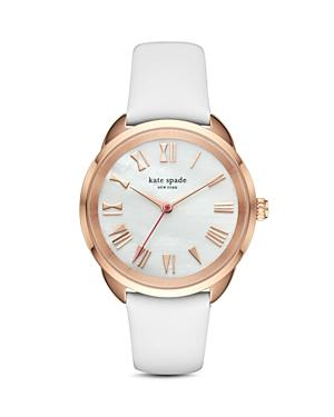 Kate Spade New York Leather Crosstown Watch, 34mm