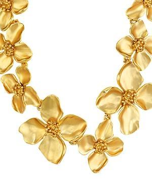 Oscar De La Renta Flower Statement Necklace, 14
