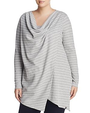 Andrew Marc Performance Plus Stripe Thermal Asymmetric Top