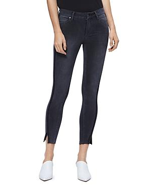 Paige Verdugo Skinny Ankle Jeans In Black Granite