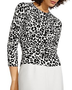 Karen Millen Soft Leopard Knit Cardigan