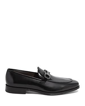Salvatore Ferragamo Men's Seattlelux Admiral Double Gancini Leather Loafers - Regular