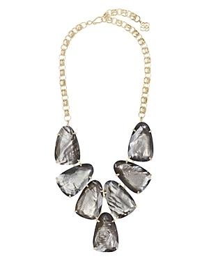 Harlow Gray Illusion Statement Necklace, 22