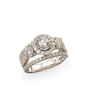 Bloomingdale's Solitaire Diamond Halo Engagement Ring In 14k White Gold, 2.0 Ct. T.w. - 100% Exclusive