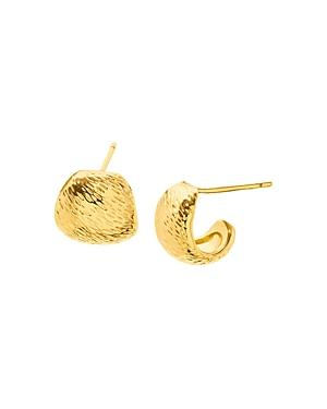 Gorjana Rae Textured Huggie Hoop Earrings