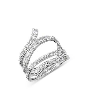 Bloomingdales Diamond Crossover Ring In 14k White Gold, 1.0 Ct. T.w. - 100% Exclusive