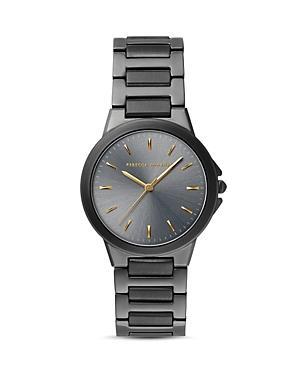 Rebecca Minkoff Cali Gunmetal Gray Dial Watch, 34mm