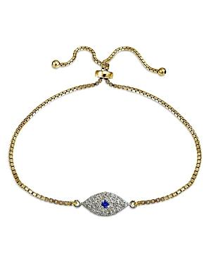 Marc & Marcella X Bloomingdale's Diamond Evil Eye Adjustable Bracelet In Sterling Silver & 18k Gold-plated Sterling Silver, 0.47 Ct. T.w. - 100% Exclusive