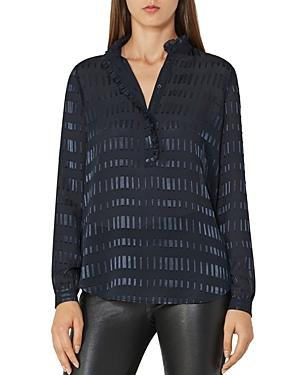 Reiss Iona Fil-coupe Sheer Blouse