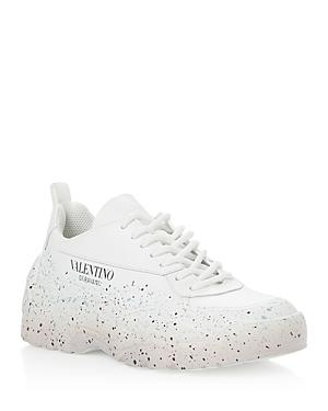 Valentino Garavani Women's Paint Splatter Lace Up Sneakers