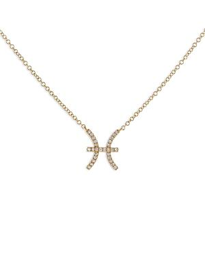 Adinas Jewels Pave Pisces Pendant Necklace, 16-18