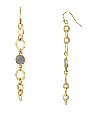 Chan Luu Labradorite Chain Link Earrings In 18k Gold-plated Sterling Silver