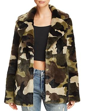 Aqua Camo Faux Fur Jacket - 100% Exclusive