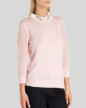 Ted Baker Sweater - Helane Embellished Collar
