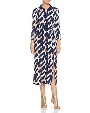 Laundry By Shelli Segal Graphic Print Midi Shirt Dress