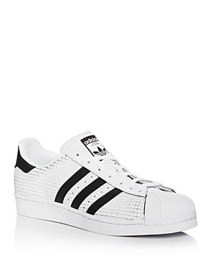 Adidas Superstar Scored Leather Lace Up Sneakers