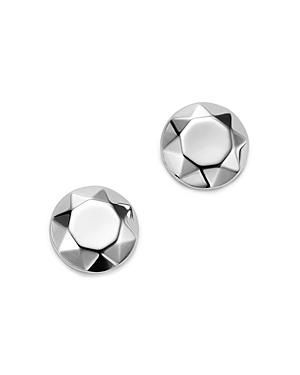 Bloomingdale's Faceted Dome Earrings In 14k White Gold - 100% Exclusive