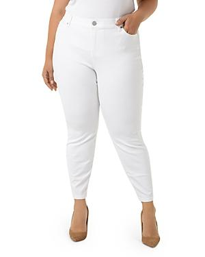 Liverpool Plus Penny Ankle Skinny Jeans In Bright White