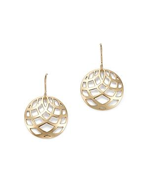 Bloomingdale's Small Bold Weave Drop Earrings In 14k Yellow Gold - 100% Exclusive