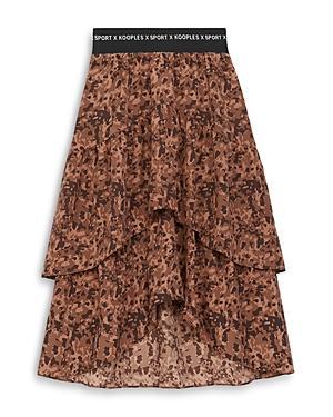 The Kooples Printed Tiered Skirt