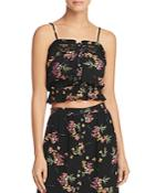 Lost And Wander Floral-print Cropped Top
