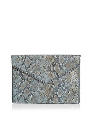 Rebecca Minkoff Leo Small Metallic Leather Clutch