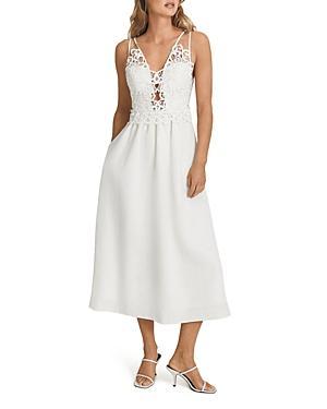 Reiss Serena Lace Midi Dress
