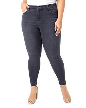Liverpool Plus Abby Ankle Skinny Jeans In Meteorite Wash