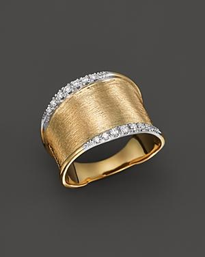Marco Bicego Diamond Lunaria Ring In 18k Yellow Gold