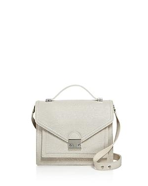 Loeffler Randall Rider Medium Lizard-embossed Leather Satchel