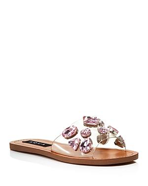 Aqua Women's Twink Crystal Embellished Clear Slide Sandals - 100% Exclusive