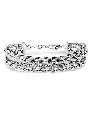 John Hardy Sterling Silver Classic Chain Triple-row Bracelet