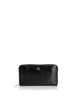Tory Burch Robinson Zip Patent Leather Continental Wallet