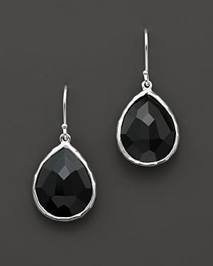 Ippolita Sterling Silver Rock Candy Small Teardrop Earrings In Black Onyx