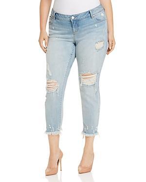 Slink Jeans Easy Fit Boyfriend Jeans In Acid Wash