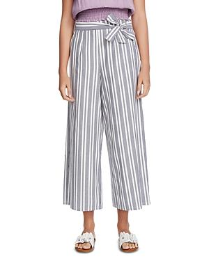 1.state Cotton Canvas Striped Wide-leg Pants