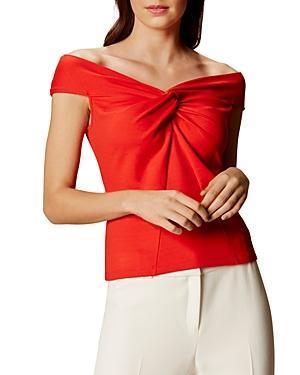 Karen Millen Off-the-shoulder Twisted Top