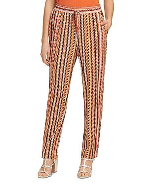 Dkny Printed Pull On Tie Front Pants