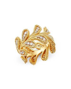 Roberto Coin 18k Yellow & White Gold Byzantine Barocco Diamond Ring