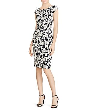 Lauren Ralph Lauren Petites Floral-print Jersey Dress