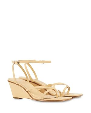 3.1 Phillip Lim Women's Laura Square Toe Leather Wedge Sandals