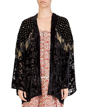 The Kooples Studded Fringed Kimono