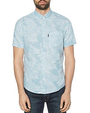 Original Penguin Cotton Leaf-printed Regular Fit Shirt