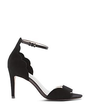 Karen Millen Suede Scalloped High Heel Sandals