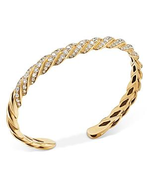 David Yurman 18k Yellow Gold Paveflex Diamond Bracelet