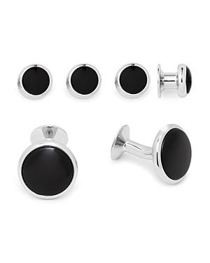 David Donahue Oval Onyx Shirt Stud & Cufflink Set