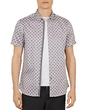 Blushes Geo Print Slim Fit Shirt
