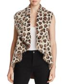 Sioni Leopard Print Eyelash Knit Vest