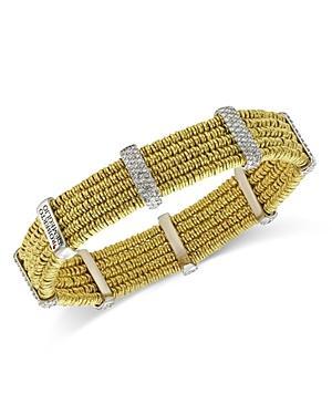 Roberto Demeglio 18k Yellow Gold Joy Diamond Multi Layer Bangle Bracelet